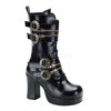 GOTHIKA-100 Black Faux Leather